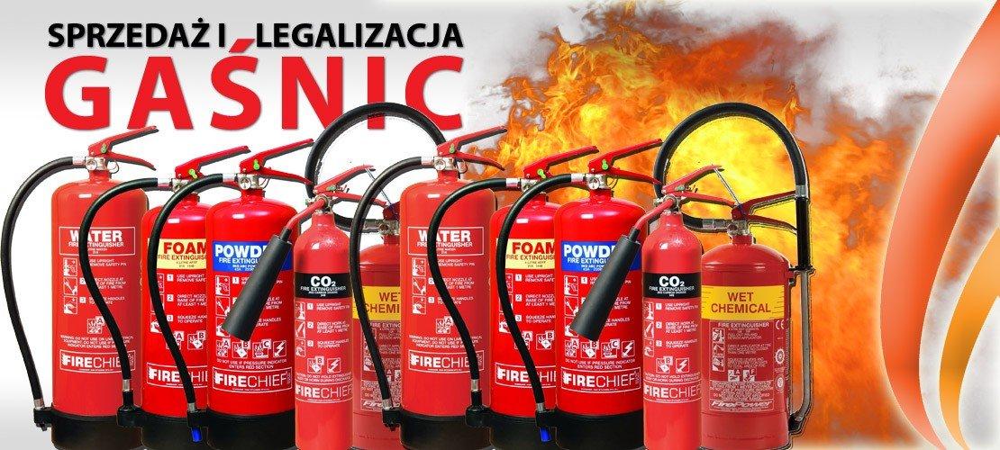 Sprzedaż i legalizacja gaśnic